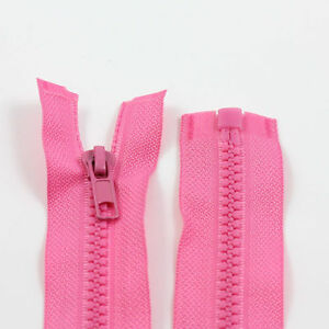 PINK-10-039-039-32-039-039-INCH-CHUNKY-NO-5-OPEN-END-ZIPS-12-SIZES-PLASTIC-SEW-ON-NZ1141