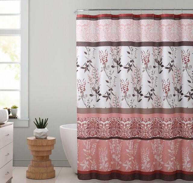 Threshold Coral White Dot Shower Curtain
