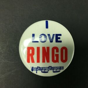 The-Beatles-I-Love-Ringo-2-034-Button-Pin-Back-Collectible-Made-in-USA
