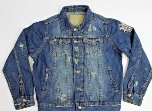 TONY JONES JACKET 6GD11J Junior /%100 Cotton Blue Denim Jacket
