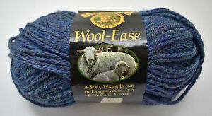 "1 Skein Lion Brand Wool-Ease Tonal Yarn /""Caribbean Blue/"" 4 oz 124 yds."