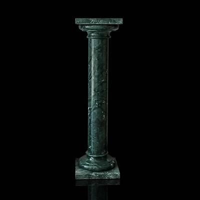 Colonna Classica In Marmo Verde Guatemala Green Marble Classic Column H.100cm