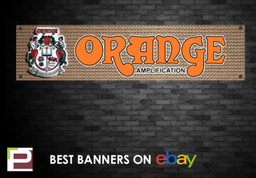 Orange Amplifier Banner Studio for Rehearsal Room Garage Bedroom,