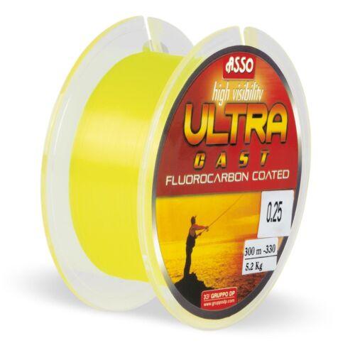 0,04EUR//m ASSO Monofile Schnur Ultra Cast 300m 0,22mm 3,80kg Fluo Yellow