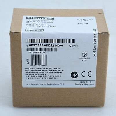 NEW Siemens 6ES7 235-0KD22-0XA0 Simatic S7 Extension Expansion Module