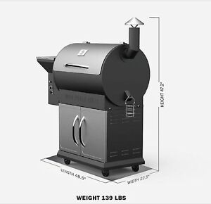 Z-GRILL-WOOD-FIRED-PELLET-GRILL-WITH-CART-BASE-AND-FREE-BAG-OF-PELLETS-YGP7008