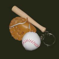 Mini baseball keychain,baseball and bat key ring,baseball glove key chain