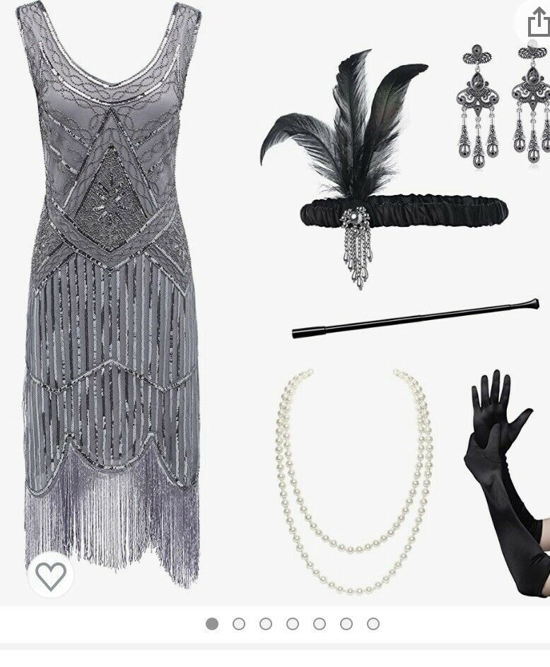 roaring 20's dress Size Xl Comes With Accessories - image 2