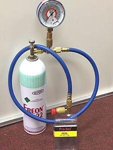 R22 Freon For Sale >> R22 R-22 Refrigerant 22, Recharge Kit, LARGE 35 oz. Can, Taper, Hose & Gauge   eBay