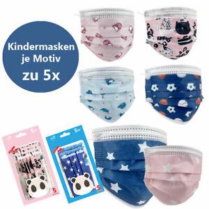 Kinder Motive Gesicht-Atem-Schutz-Masken Mundschutzmaske 3 Lagig Einwegmaske
