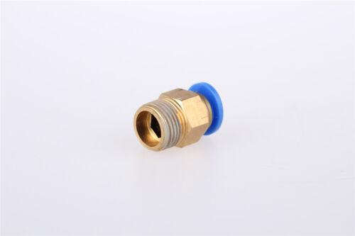 """10Pcs 1//4/"""" PT OD tubo 8mm Push guarnición rápida de conector neumática conjunta en"""