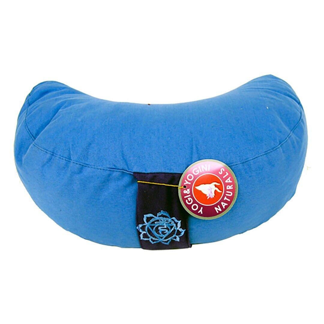 Crescent Moon bluee Chakra  Meditation Cushion  Dimensions  33cm ×13 cm
