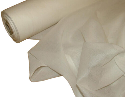 White 50 Metre Roll Of French 100/% Cotton Muslin Voile Fabric Curtain
