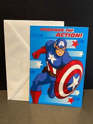 Girlfriend card Captain America card Best friend card Birthday superhero card Happy Birthday postcard Boyfriend card