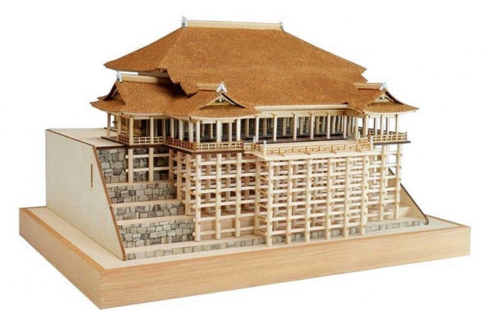 Woody JOE 1 150 Kiyomizu Temple Main Hall Stage Wood Model Kit Fast Ship Japan