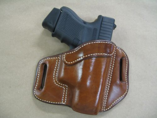 C Azula Leather OWB 2 Slot Pancake Belt Holster CCW For..Choose Gun /& Color