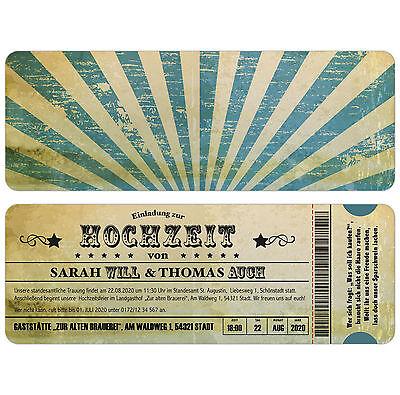 """Vintage Carte Invito Al Matrimonio-biglietto-ticket-invito-en Zur Hochzeit - Eintrittskarte - Ticket - Einladung"""" Data-mtsrclang=""""it-it Mostra Il Titolo Originale Sentirsi A Proprio Agio"""
