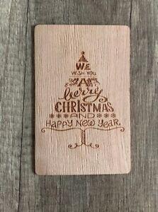 Holz Weihnachtskarten.Details Zu Grußkarte Aus Holz Geschenk Karte Weihnachtskarte X Mas Frohe Weihnachten Baum