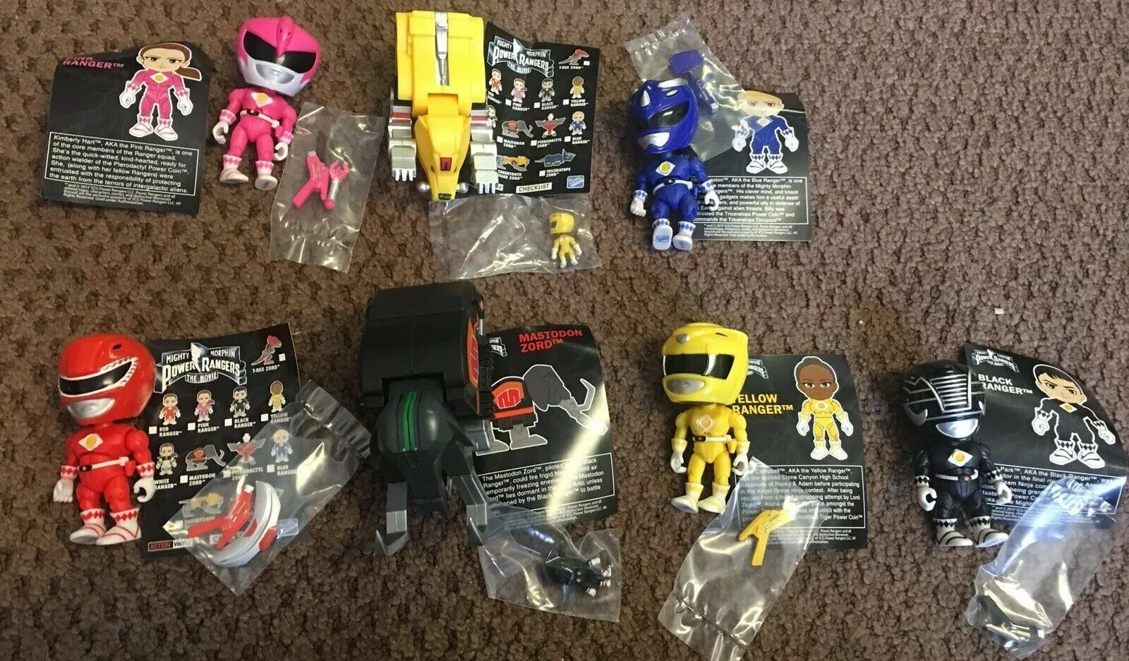 Huge Lot Of 22 Loyal Loyal Loyal Subjects Mighty Morphin Power Rangers Zords Vinyl Figures 59661d
