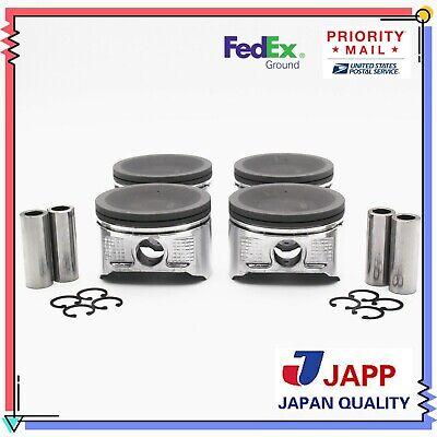 for 98-04 Nissan 2.4L Altima Frontier Xterra KA24DE Std Premium Piston Rings