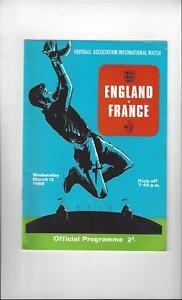 England-v-France-Football-Programme-1969