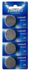 4-x-CR2477-3V-Lithium-Knopfzelle-1050-mAh-1-Card-a-4-Batterien-Euni