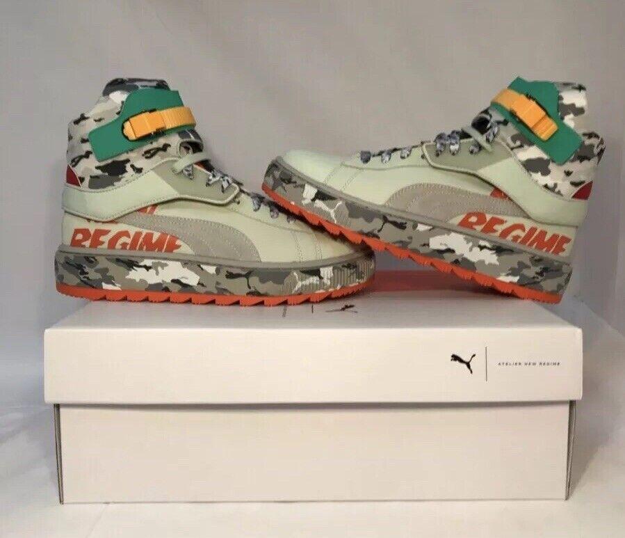 PUMA x Atelier Nuevas botas Zapatos Tenis Camo Regime Ren Raro 367303-01 Nuevo En Caja