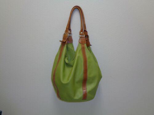 Marco Buggiani Italian Large Leather Handbag Lime