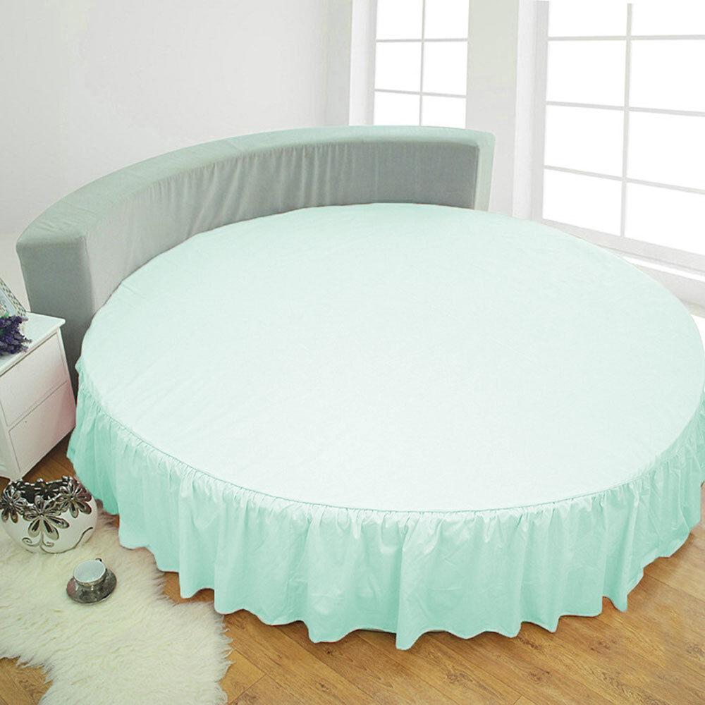 15  Drop Dust Ruffle Round Bed Skirt 800 TC Egyptian Cotton 80  84  96