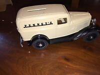 Ertl J.c. Penney's Replica 1932 Ford Deliver Van Bank W/ Key