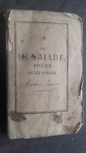 La Henriade Poeme En Diez Cantos por Voltaire Frontispicio Delarue A París ABE
