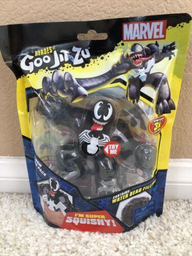 HEROES of GOO JIT ZU Black Venom Spiderman Super Squishy Hero Pack Marvel