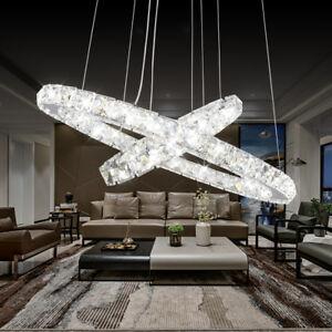 LED-Crystal-Ring-Pendant-Light-Chandelier-Lamp-Ceiling-Fixture-DIY-Home-Decor