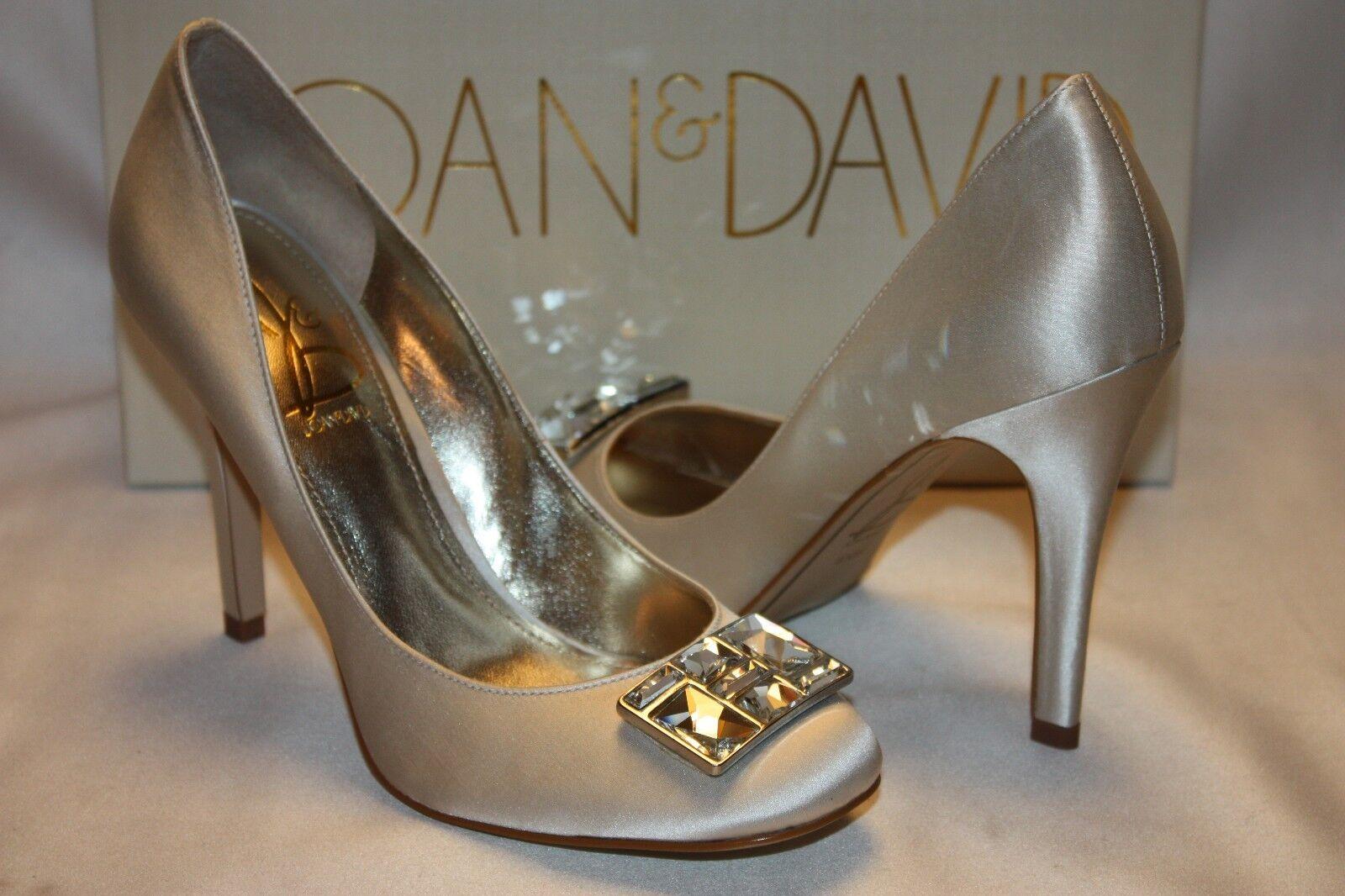 NEU  NIB  JOAN & DAVID WEISS Satin FANCEEN Bridal Formal Heels Pumps Sz 8.5 220