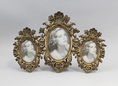 Arte Y Antigüedades Dependable Marco De Fotos Para 3 Imágenes Con Ornamentos Nuevo 9977320