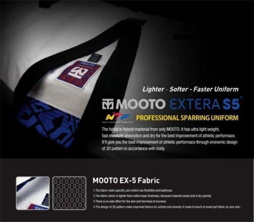 with Black V NECK WTF Taekwondo Uniform Dobok MOOTO EXTERA S5 Uniform