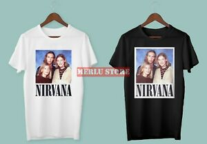 New-Hanson-NIRVANA-LIMITED-EDITION-Men-039-s-Black-White-T-Shirt