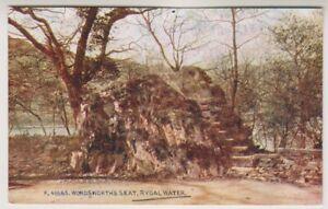 Cumbria-Tarjeta-Postal-Wordsworth-039-s-Asiento-Rydal-Agua-A428
