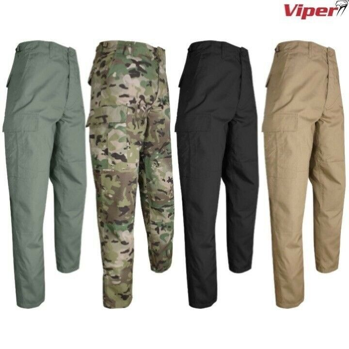 VIPER TACTICAL BDU COMBAT TROUSERS MENS 28-42  ARMY RIPSTOP CARGO PANTS AIRSOFT