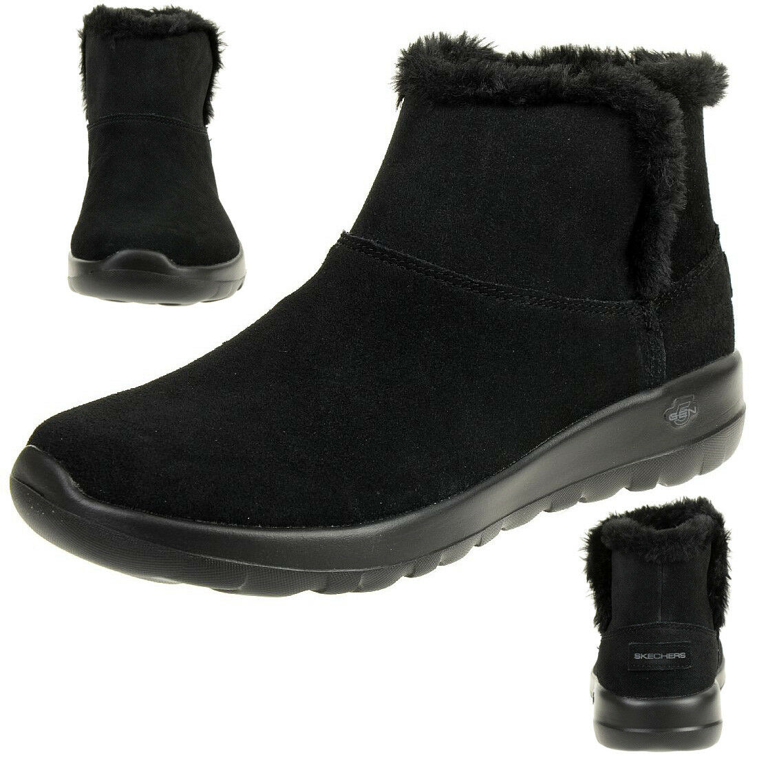 Skechers On the Go JOY BUNDLE UP Stiefel Damen Winterschuhe gefüttert schwarz