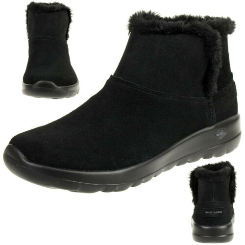 Up On Winterschuhe Go Damen Gefüttert Stiefel Joy The Skechers Schwarz Bundle 6d8qBgXwwC