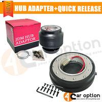 Audi A3 Jetta Bora Racing Steering Wheel 6 Bolt Hole Hub Adapter Quick Release on sale