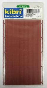 BNIB-OO-HO-GAUGE-KIBRI-34142-ROUND-TILE-ROOFING-PLASTIC-SHEET-12cm-x-20cm
