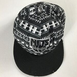 Brooklyn-Nets-Snapback-Hat-NBA-Basketball-Hardwood-Classics-Polyester-New-York