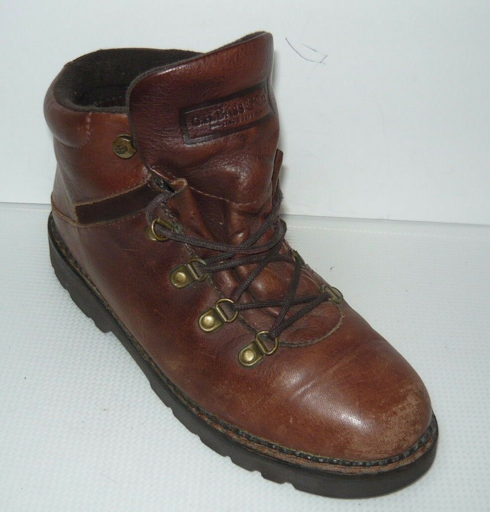 GH Bass & Co en cuir marron chaussures de randonnée Sz 7 W