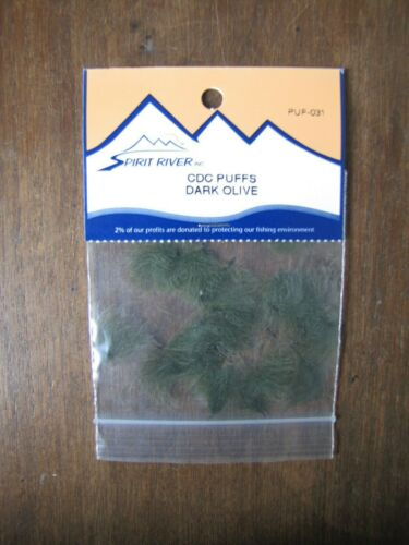 Dark Olive Fly Tying Spirit River CDC Puffs