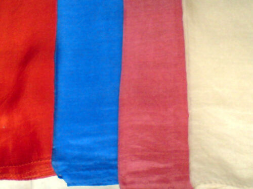 "INDIAN100/%PURE SILK HANDMADE LONG SCARVES 40/""//100cmx 6/""//15cm 3 COLOURS £6.50each"
