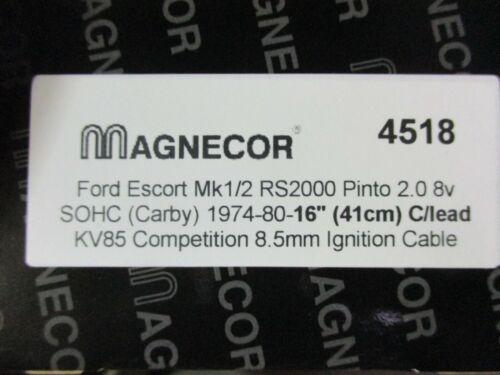 Pinto ESCORT MK1 Magnecor KV85 HT Lead MK2 8.5mm rosso la concorrenza HT Lead