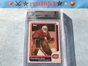 1986-Topps-53-PATRICK-ROY-Rookie-BGS-9-Mint-No-9-5-10-HOF-Goalie-RC
