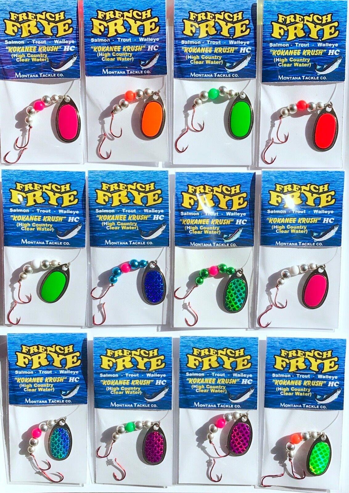 "Kokanee Spinners (12)  ""KOKANEE KRUSH HC"" (High Country   Clearwater)"
